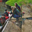 Support crew provide much needed food and hot chocolate just before Newbury lock