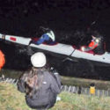 Seconds before the first capsize in freezing conditions at Bray lock