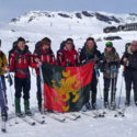 The group outside Finse at the end of the expedition