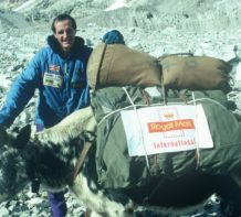 Rod Stables, Deputy Leader with loads bound for Base Camp - Everest Winter 1992
