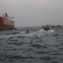 Cadets pulled by powerboat
