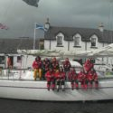 HMSTC Endeavour and Crew at Corpach Sea Lock at the Entrance to the Caledonian Canal