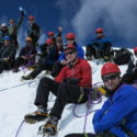 The team at Ishinca (5530m) summit