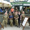 At the half way point on the 40KM.  At a rest stop just across the border in France.  The team, together with members of other European Reserve units on the march.