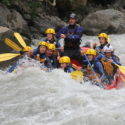 White water rafting on the Lutschine River