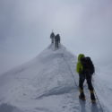 Rope team head to summit