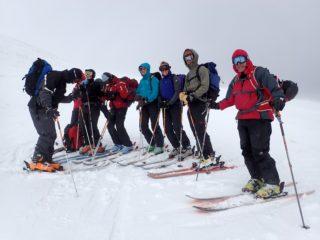 Preparing to reach the summit at Roundhill