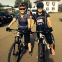 Ready for another days Mountain Biking -        Officer Cadets Francis Mills and Amber Davis