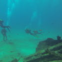 Divers leaving Temple Hall wreck