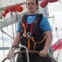 Cdt Sgt David Cox (2384 Sqn) at the helm