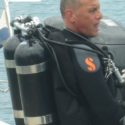 SSgt Morris diving with a twin set.
