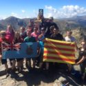 The team on the summit of the Pic du Canigou