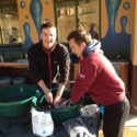 Ben Davis and Jake Harvey rinsing their smalls at Entabeni