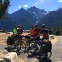 Ascending Washington Pass on Day 2, in the Cascade Mountains. Here we met another group of cyclists.