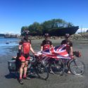 Dipping the wheels in the Pacific at Annacortes on Day 1