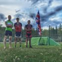 JUO's King, Howells and Jones at the campsite in Republic, Montana.