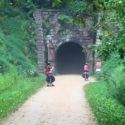 This mile and a half long tunnel was on the Elroy-Sparta State Trail in Wisconsin.