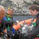 Pete Stone, Cpl Stewy Stewart and Lt Koran Grey at Boatswain Bird Island