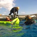 Dive Supervisor SSgt Daz Weller recovers divers