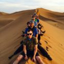 The team on the sanddunes of the Sahara