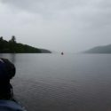 Kirsty looking out onto Loch Ness which doesn't seem to end