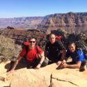 Sgt Shaw, Cpl Barrett and Cpl McGarry pose at the Grand Canyon