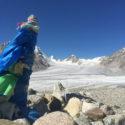 Alexander Glacier from the base camp moraine