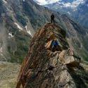 Climbing the Dri Hornli