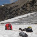 Crevasse rescue on the Hohsaas glacier