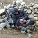 Leg 3 - A tired Lt Josh Warne in Na village post avalanche