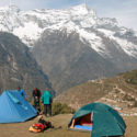 Leg 3 - Camping above Namche Bazar before the snow