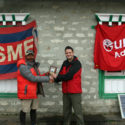 Leg 3v -Khil Thapa owner of Gurkha Adventures and Maj Andy Gooch exped OIC meeting in Dingboche