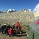 Team training ready for the glacier