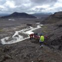 Group walk to see the Glacier near Gulfoss/Geysir