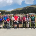 Group 1 at Bahkmaro about to start their 4 day trek in the Adjara Mountains