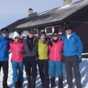 0ur 6 cadets outside the Kjeldebu hut