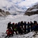 The full team at high altitude with higher morale