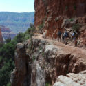 Descending into The Grand Canyon from the North Rim, 4 July 2016