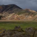 Landmannalaugar,  the view from just above the first campsite.