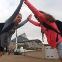 Katie and Leah - taller than the Rock