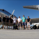 Group photo next to a rare DC3 Dakota.