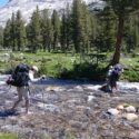 River crossing in the Kern Canyon