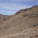 The Drackensberg team from Group 1 ascending Walker's Peak on Day 3 of their five-day trek.