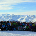 3 MI Bn gather for a group photo on a beautiful crisp morning in La Plagne