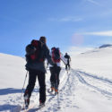 Ski touring was a core part of Ex Cockney Skadi- testing navigation, physical endurance and teamwork