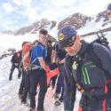 Evacuating injured mountaineer