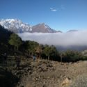 Our first morning of trekking