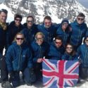 Matching jackets at the top of Toubkal