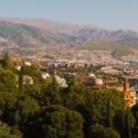 Granada dwarfed by the Sierra Nevada Mountains