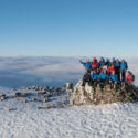 The Everest team at the summit… of Ben Nevis during the build up training in January